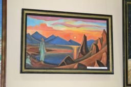 Картина на выставке Сергея Попова в Абазе